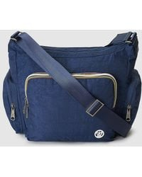Pepe Moll - Blue Shoulder Bag With Zip - Lyst