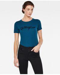 G-STAR RAW Graphic Logo 20 Slim Camiseta para Mujer