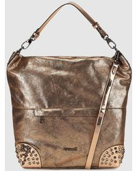 Pepe Moll - Bronze Hobo Bag With Studs - Lyst