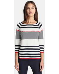 Zendra El Corte Inglés - El Corte Inglés Zendra Striped Sweater With French Sleeves - Lyst
