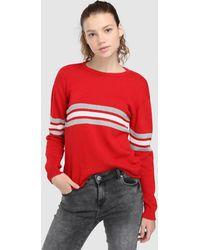Green Coast - Long Sleeve Striped Sweater - Lyst