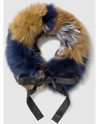 Gloria Ortiz - Multicoloured Fur Cowl With Bow - Lyst