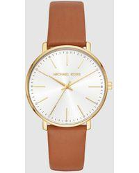 Michael Kors - Pyper Mk2740 Brown Leather Watch - Lyst