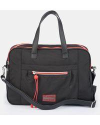 Caminatta Wo Black Nylon Portfolio With Long Detachable Strap