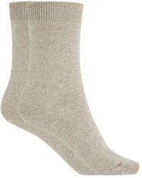 Punto Blanco Beige Wool Socks - Natural