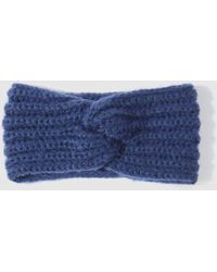 El Corte Inglés - Navy Blue Knitted Hairband With Knot - Lyst