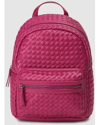 El Corte Inglés Fuchsia Plaited Backpack - Multicolor