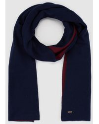 Gloria Ortiz - Navy Blue And Maroon Wool Scarf - Lyst