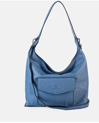 Robert Pietri Plain Blue Hobo Bag With Two Outer Pockets