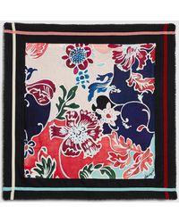 Desigual - Deco Flow Black Floral Print Handkerchief - Lyst