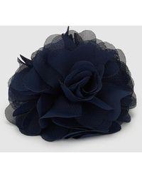 El Corte Inglés Navy Blue Fascinator With Flower And Clip