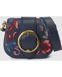 Polo Ralph Lauren - Embroidered Leather Lennox Bag - Lyst