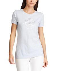 Lauren by Ralph Lauren Wo Short Sleeve T-shirt With A Front Design - White