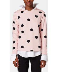 Esprit - Nude Sweatshirt With Polka Dots - Lyst