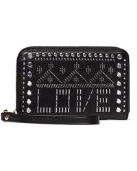 Desigual Azabache Mini Medium Black Wallet With Studs And Zip