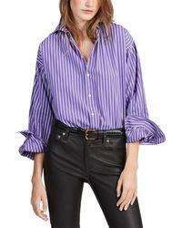 Polo Ralph Lauren Wo Slightly Oversized Striped Shirt - White