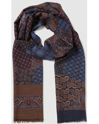 Mirto - Mens Two-tone Wool Foulard With Embellished Print - Lyst