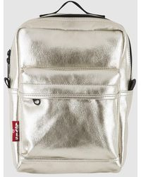 Levi's Levis Plain Gold Backpack With Zip - Metallic
