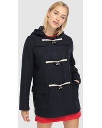 Green Coast - Duffle Coat With Hood And toggle - Lyst
