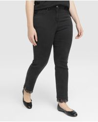 Couchel - Plus Size Skinny Jeans With Lace - Lyst