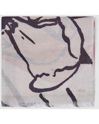 Gloria Ortiz - Light Grey Foulard With Floral Print - Lyst