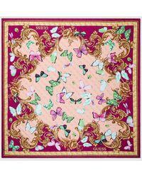Guess Fuchsia Butterfly-print Handkerchief - Pink