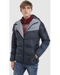 Green Coast - Two-tone Quilted Coat - Lyst