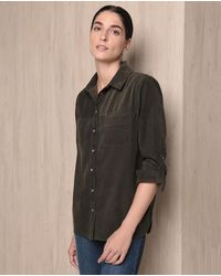 Woman El Corte Inglés - Woman Weekend 100% Cotton Needlecord Shirt - Lyst