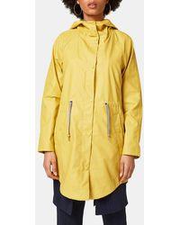 Esprit - Yellow Hooded Raincoat - Lyst