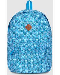 El Corte Inglés - Wo Blue Geometric Print Nylon Folding Backpack - Lyst