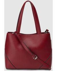 El Corte Inglés - Medium Red Shopper Bag With Fastener - Lyst ee174b65ddbbc