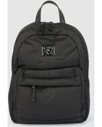 Caminatta Black Nylon Backpack With Zip