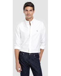 Polo Ralph Lauren - Camisa De Hombre Regular Lisa Blanca - Lyst