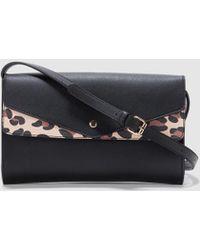 0fd1ab9834 Black Crossbody Bag With Animal Print