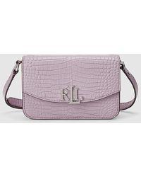 Lauren by Ralph Lauren Pink Leather Mini Convertible Crossbody Bag/belt Bag