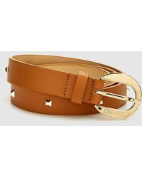 Guess - Wo Brown Belt With Tacks - Lyst