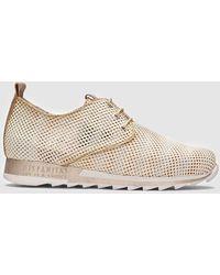Hispanitas Metallic Beige Sneakers - Natural