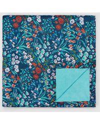 El Corte Inglés Navy Blue Floral Print Beach Wrap