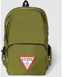 Guess - Mens Green Backpack With Zip - Lyst