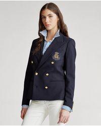 Polo Ralph Lauren Blazer De Mujer Con Seis Botones - Azul