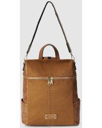 Pepe Moll - Camel Convertible Backpack/shoulder Bag - Lyst