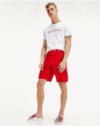 Tommy Hilfiger Pijama De Hombre Corto Rojo