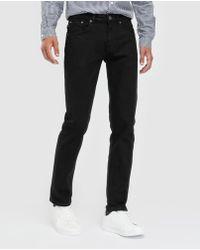 Green Coast - Regular-fit Black 5-pocket Trousers - Lyst
