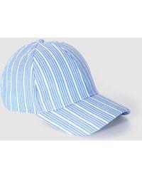 El Corte Inglés - Wo Blue Stripe Print Cap - Lyst
