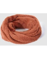 Jo & Mr. Joe - Orange Faux Fur Cowl - Lyst