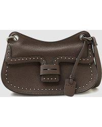 Esprit - Small Dark Brown Crossbody Bag With Studs - Lyst
