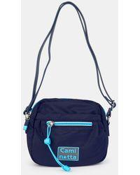 Caminatta Wo Small Navy Blue Nylon Crossbody Bag With Zip