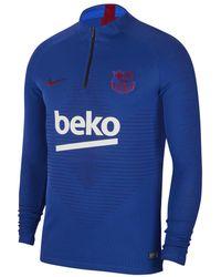 Fc Barcelona 2019 2020 Vaporknit Strike Dri fit Shirt Blue