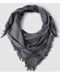 Gloria Ortiz - Large Grey Checked Handkerchief - Lyst