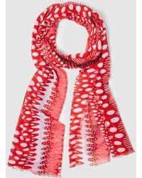 Jo & Mr. Joe - Red Printed Foulard - Lyst